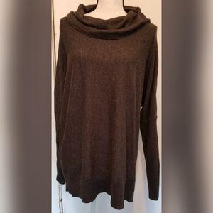 MICHAEL Michael Kors Gray Cowl Sweater Zippers